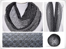 Strickanleitung, Loop, Black Christmas Glitzer