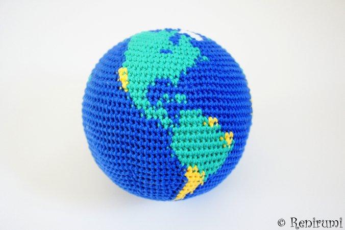 Weihnachtsdeko Globus.Häkelanleitung Globus