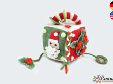 Crochet pattern activity cube - game dice - XMAS