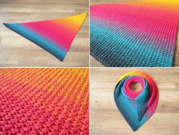 Dreieckstuch Häkeln Farbverlauf Häkeln