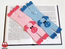 207 Crochet Pattern - Pig Bookmark or decor - Amigurumi PDF file by Zabelina CP