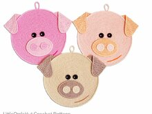 202 Crochet Patterns - Pigglet Pig Decor or potholders - Amigurumi PDF file by Zabelina CP