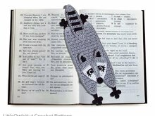 201 Crochet Pattern - Raccoon Bookmark or decor - Amigurumi PDF file by Zabelina CP