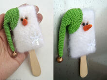 175 Crochet Pattern - Ice cream fridge magnet - Amigurumi soft toy PDF file by Borisenko CP