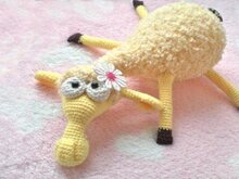 082 Crochet Pattern - Dolly the sheep - Amigurumi PDF file By Astashova CP
