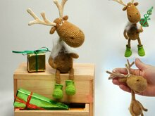 060 Crochet Pattern - Dear Reindeer with accessories - Amigurumi PDF file by Borisenko CP