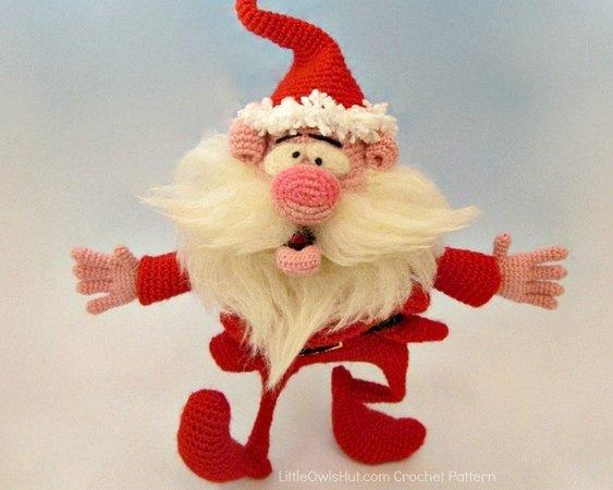 19 Free Amigurumi Christmas Santa Crochet Patterns   Karácsonyi ...   450x563