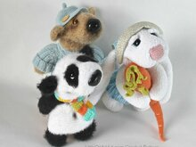 056 Crochet Pattern - 3 friends: Bear, Rabbit, Panda - Amigurumi PDF file by Astashova CP