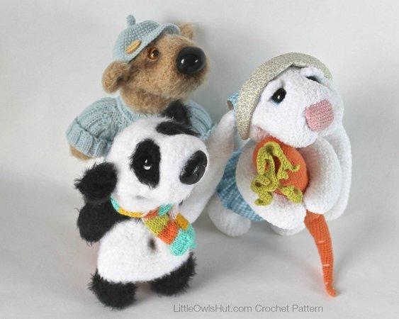9 Crochet Panda Patterns – Cute Amigurumi Bear Toys - A More ... | 450x563