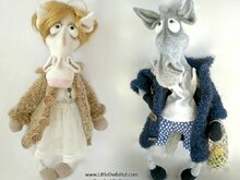 048 Crochet Pattern - Mrs and Mr Horse in a coat - Amigurumi PDF file by Astashova CP