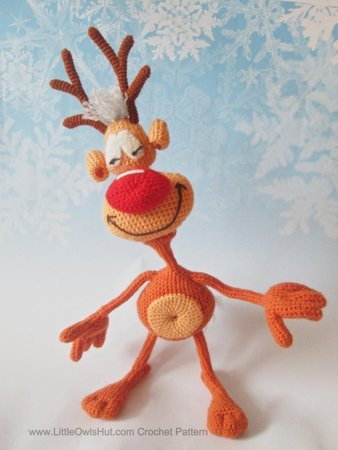 Crochet deer Santa Claus's reindeer amigurumi Rudolph gift on ...   450x338