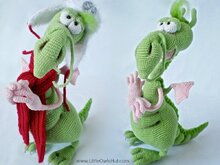 026 Crochet Pattern - Dragon toy with wire frame - Amigurumi PDF file by Astashova CP