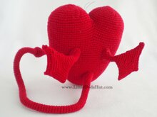 021 Crochet Pattern - Heart toy with wire frame - Amigurumi PDF file by Astashova CP