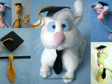 019 Crochet Pattern - Graduation Hat for toys - Amigurumi PDF File by Astashova CP