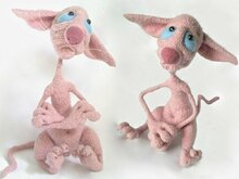 006 Crochet Pattern - Hairless Cat Fillimon with wire frame - Amigurumi PDF file by Astashova CP
