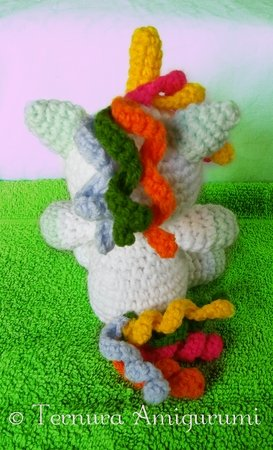 Crochet pattern unicorn Flipp english