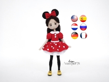 Doll in Minnie Mouse Costume