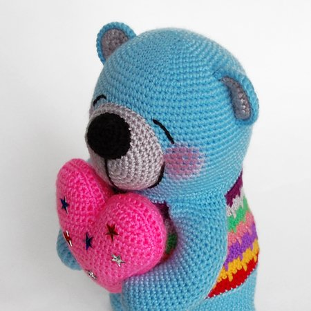 Amigurumi pattern for a crochet plush teddy bear