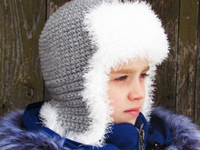 Hat earflap crocheting pattern