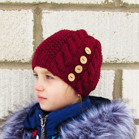 Hat pattern knitted