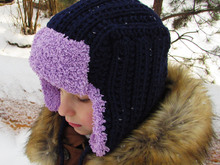 Knitting hat earflap pattern