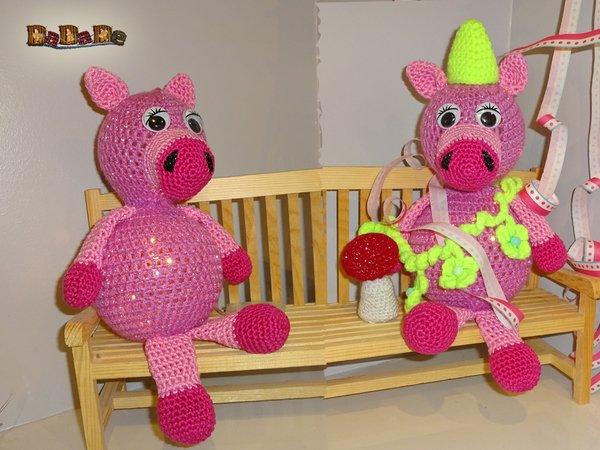 Beleuchtete Christbaumkugeln.Das Beleuchtete Schwein Dekoration Für Kinderzimmer Oder Silvester Gehäkelt Von Dadade