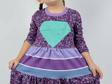 Diamond Dress Kleid mit Diamanten-Unterteilung Gr. 86 - 164