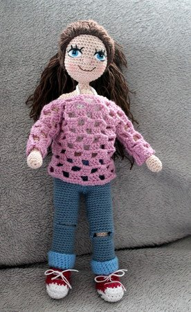 Doll Klara crochet pattern in english