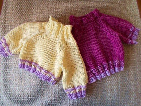 Pullover Und Schlafsack Für Teddys Und Puppen 40 Cm Strickanleitung