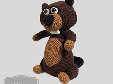 Beaver crochet pattern Dutch, Deutsch and Englisch US terms