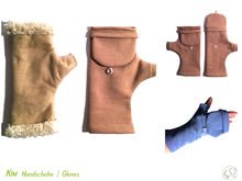 KIM cut off gloves + mitten flap 5 sizes sewing pattern