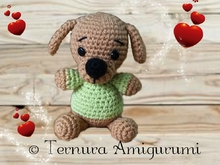 Crochet pattern Thoby, the puppy PDF english- deutsch- dutch ternura amigurumi