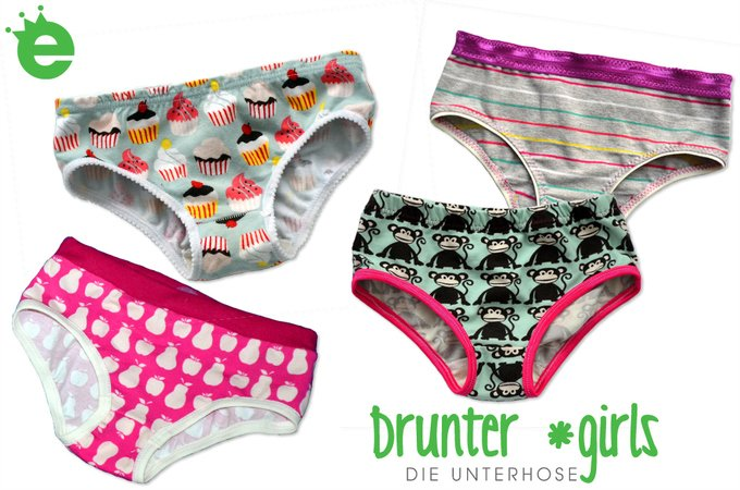 Undies girls sewing pattern • sizes EU 74 – 152 / US 9M - 12 years