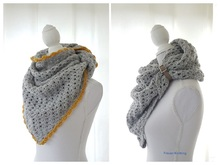Pattern triangle shawl
