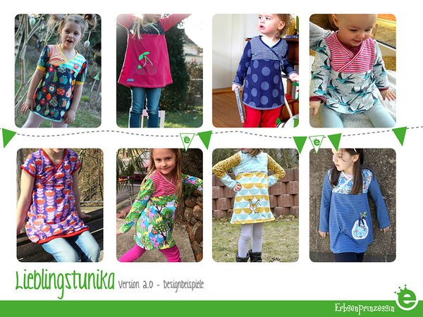 Favorite Tunic Top for girls: EU sizes 56–134 (= 0M to 9 years)