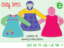 The cozy dress, Euro-size 74-122 / US-size 9m – 7,