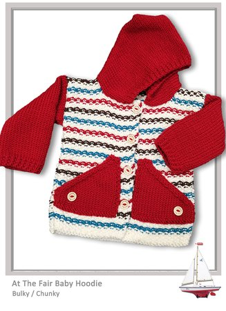 CHUNKY/Bulky  - At The Fair Cardigan Hoodie (3 to 12 month)