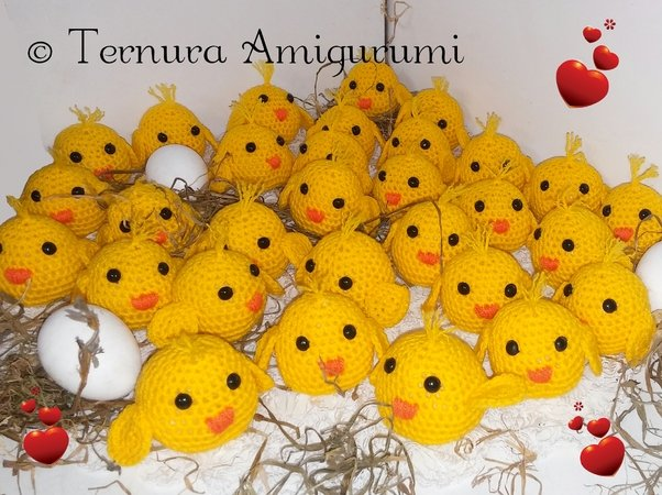 Chick crochet pattern PDF english- deutsch- dutch ternura amigurumi