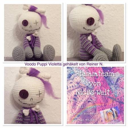 Häkelanleitung Voodoo Puppe Violetta