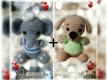 haakpatroon Thoby, de Puppy + Elly, de olifant PDF english- deutsch- dutch ternura amigurumi