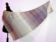 "Shawl ""Freaky Fringe"" - Crochet pattern for an asymmetrical shawl with special border"