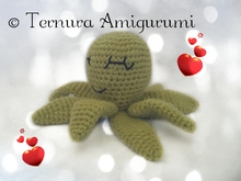 Crochet pattern of Peppe, the octopus PDF english- deutsch- dutch. Ternura Amigurumi