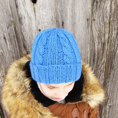 Knitted hat pattern cap