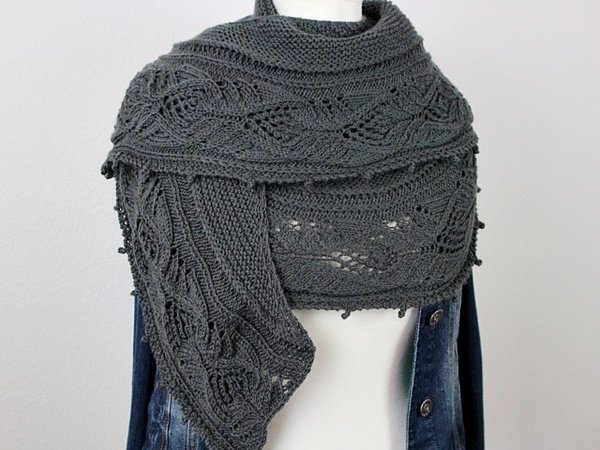 "Knitting pattern shawl ""Julietta"""
