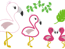 Flamingo Stickdatei 2.0