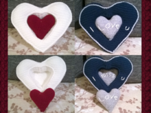 "Pillow ""Heart in Heart"""
