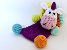 Crinkle toy little unicorn