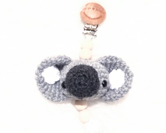Häkelanleitung Kleiner Koalakopf Für Schnullerkette Kinderwagenkette