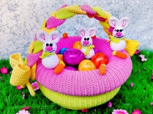 Easter basket  - Crochet Pattern from Diana´s kleiner Häkelshop