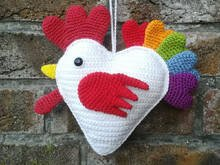 Rooster with a heart